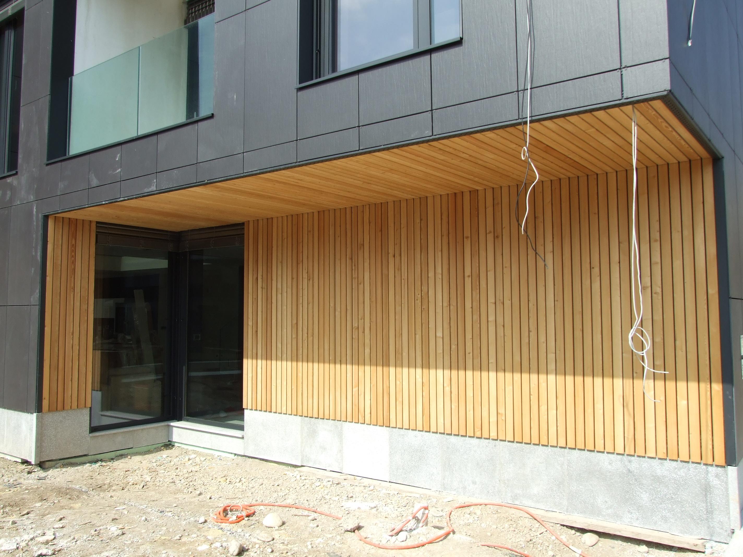 Lesena fasada Vič - letve 24 x 70 mm sibirski macesen