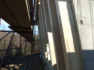 Prvačina - montaža lesene pod konstrukcije - vijak za beton bezifix anker zss