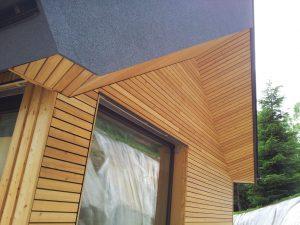 Lesena fasada Tržič - sibirski macesen - vidno vijačenje L GoFix MS