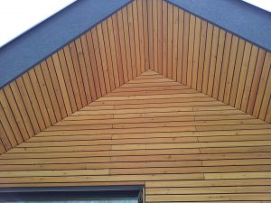 Lesena fasada Tržič - sibirski macesen - L GoFix MS 4,5 X 70 mm
