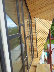 Lesena fasada Tržič - sibirski macesen - zahtevna montaža