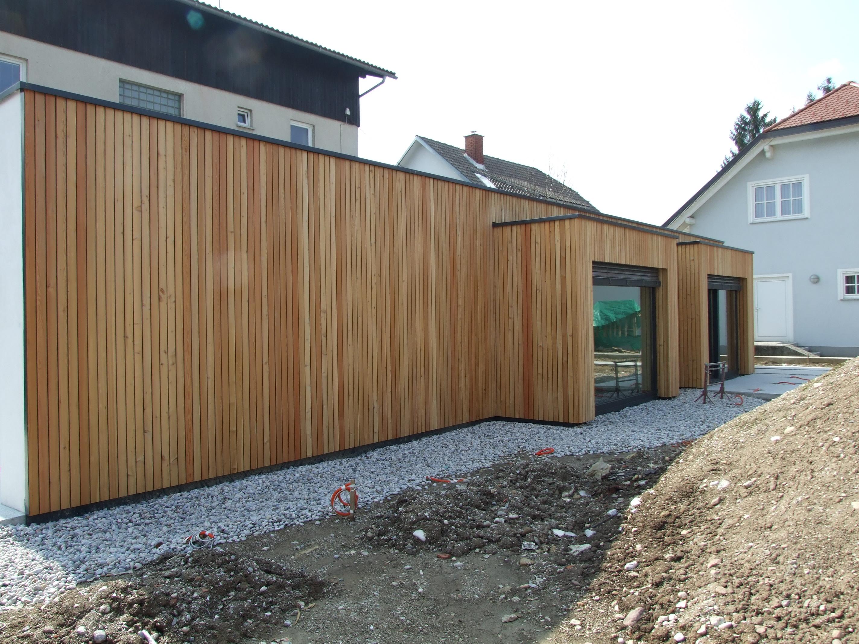 Lesena fasada Vič - nevidna montaža -Fassadenclip FCS