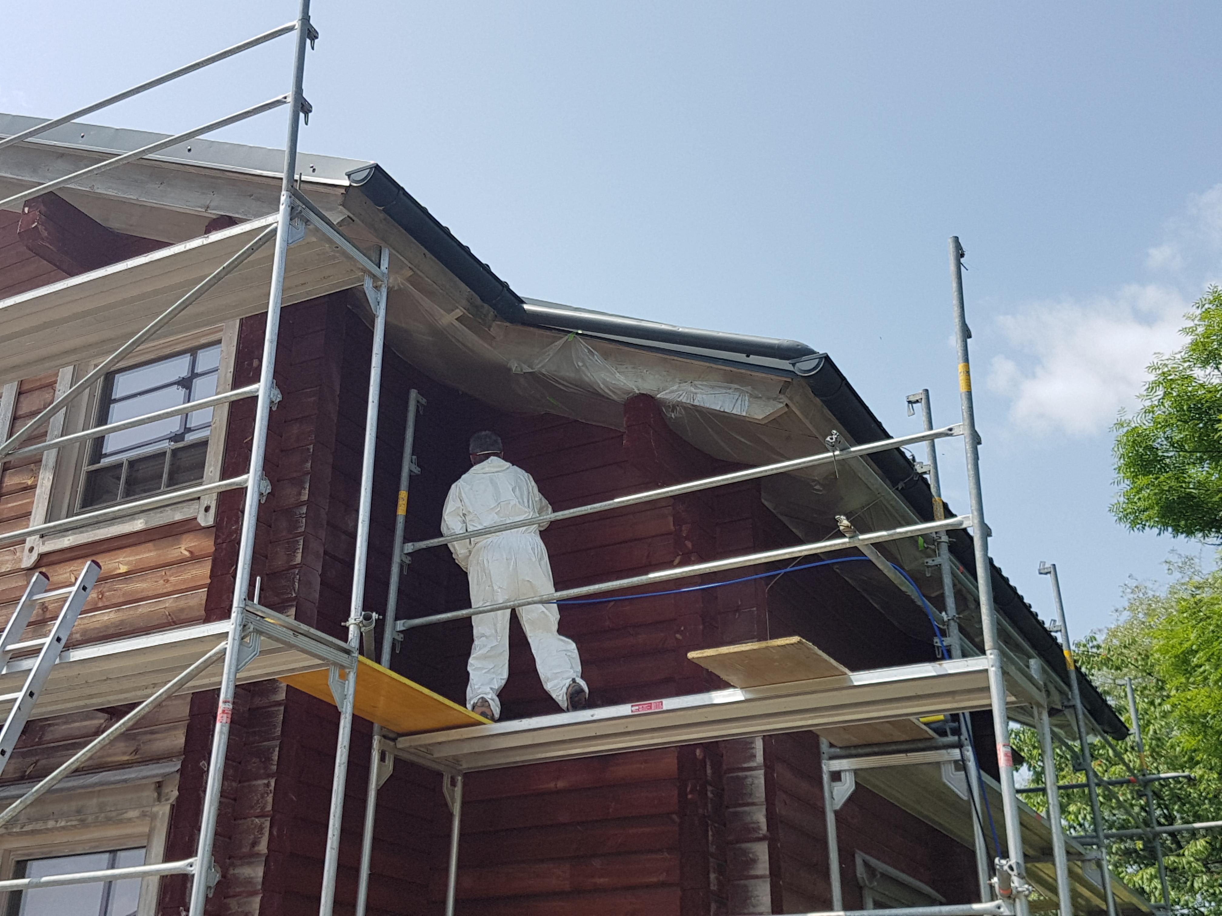 Obnova lesene fasade