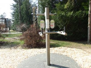 Fitnes Arboretum Volcji Potok - dvig telesa - naslon